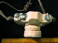 top view of camera soap sculpture