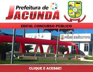 Concurso Público Prefeitura de Jacundá (PA) 2016
