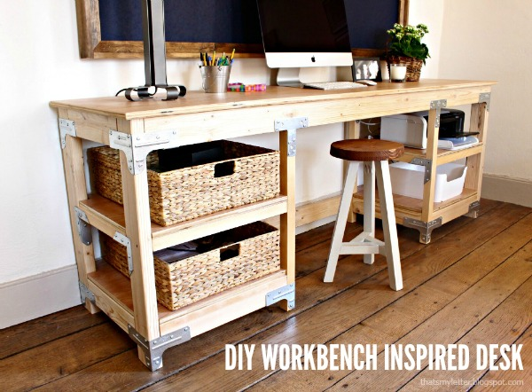 diy workbench inspired desk