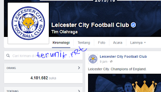 Fans page Leicester City