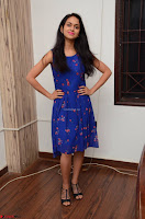 Pallavi Dora Actress in Sleeveless Blue Short dress at Prema Entha Madhuram Priyuraalu Antha Katinam teaser launch 038.jpg