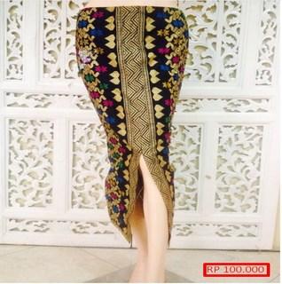 gambar rok span batik terbaru