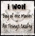 I Won Blog of the Month