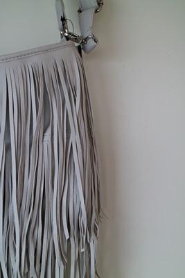 Shoppingausbeute | Januar - www.josieslittlewonderland.de , haul, new yorker, fringes, bag, bag with fringes, accessoires, light grey, hellgraue fransen tasche von new yorker