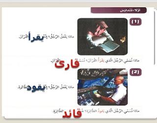 تحضير درس اسم الفاعل في اللغة العربية للصف التاسع