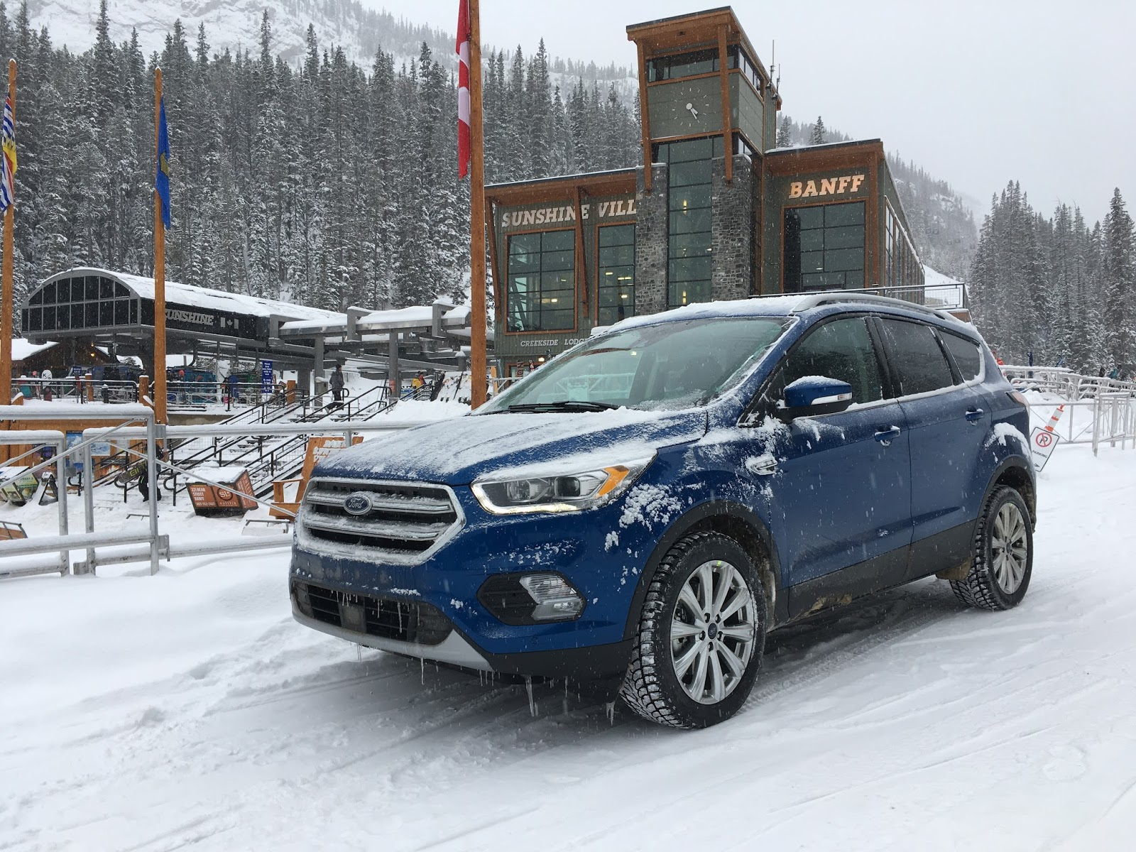 I knew as soon we were told the 2017 ford escape titanium would be available to us for the better part of the unseasonably cold and snowy days in early