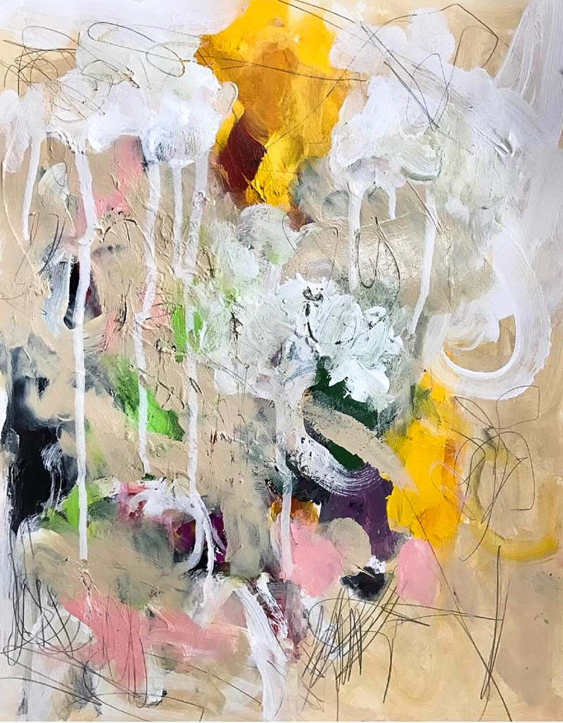 Abstract Paintings by Shellie Garber from USA.