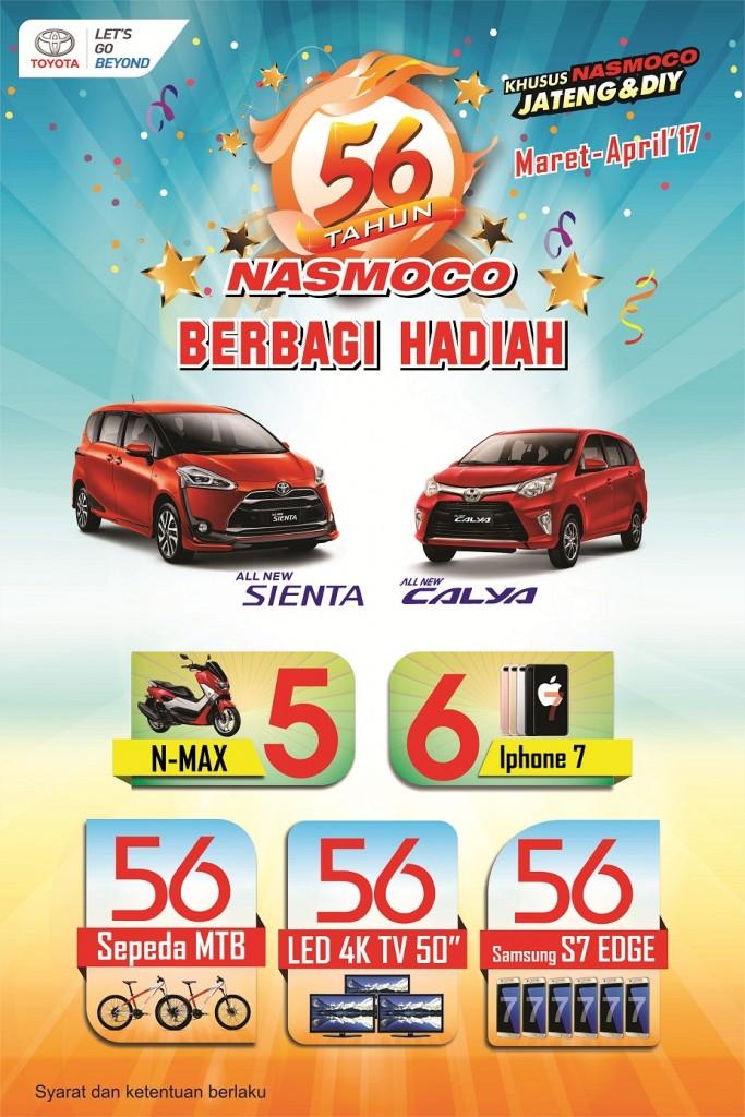 Promo 56 Tahun Nasmoco Berbagi Hadiah