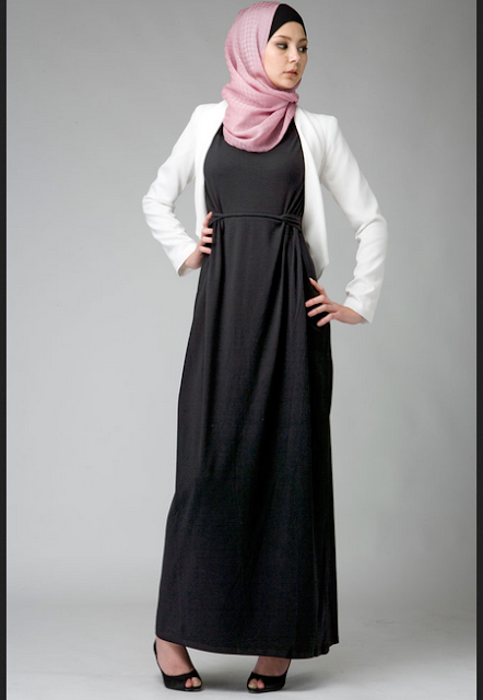 Long dress hijab untuk ke kantor