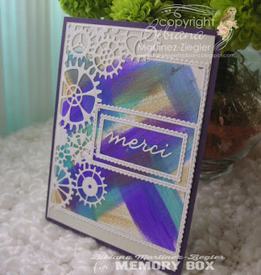 thank you card for men using silks acrylic paints side