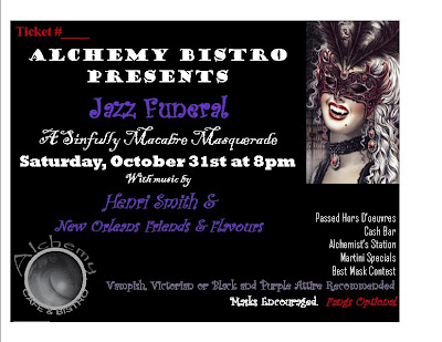 Alchemy Bistro Jazz Funeral Ticket