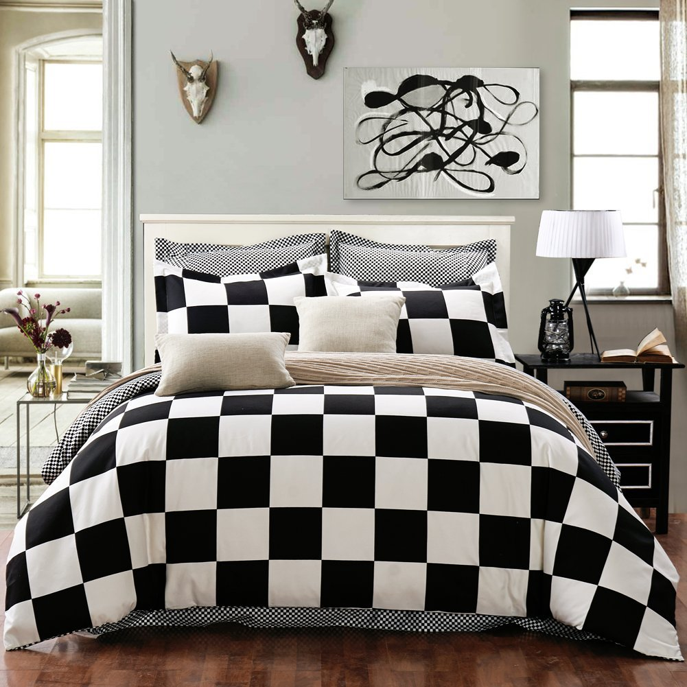 Total Fab: Black And White Checkered Comforters & Bedding Sets