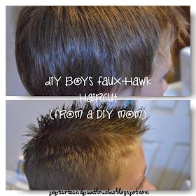 Poptarts And Paintbrushes Diy Faux Hawk Haircut