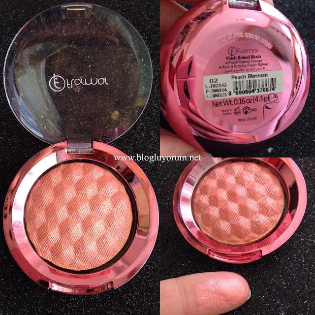 flormar flash baked blush 02 peach blossom