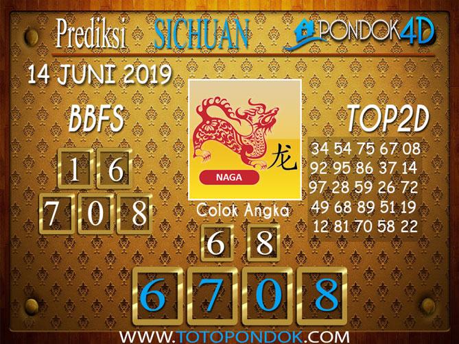 Prediksi Togel SICHUAN PONDOK4D 14 JUNI 2019