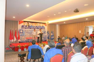Ketua DPW PAN Sulut, Sehan Salim Landjar SH saat membuka resmi Musda IV PAN kota Manado.