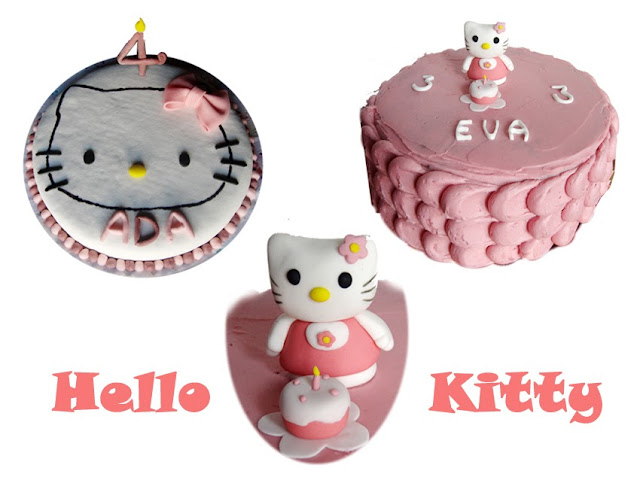 Tartas decoradas de Hello Kitty