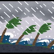 南国の台風のイラスト