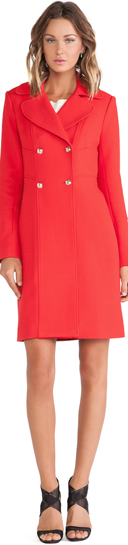 RED Diane Von Furstenberg Mirabella Coat