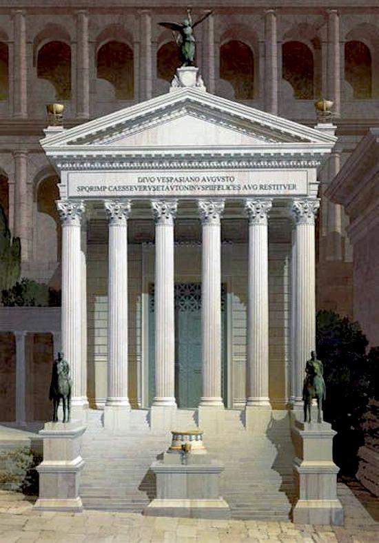 Tempio Di Vespasiano E Tito Romanoimpero Com