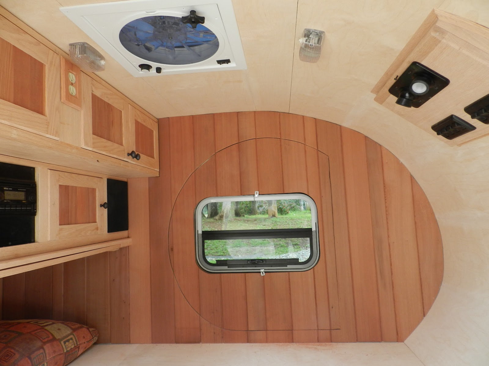 Here Is A Shot Of The Interior Paneling And Window Temporarily Set For Fitting