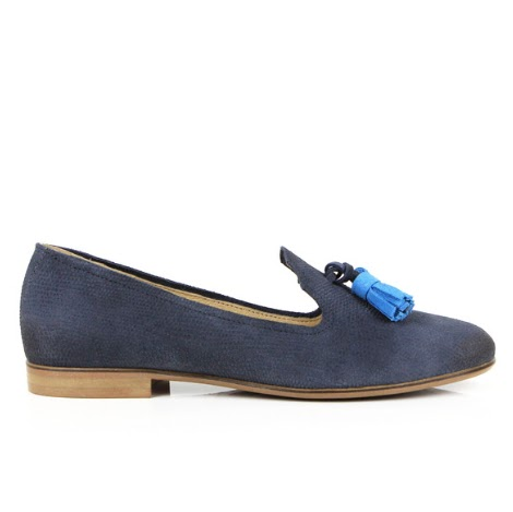 Seven Boot Lane Dixie Denim Emboss Suede Loafer