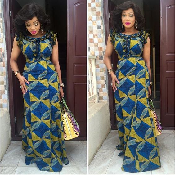 Lovable Long Gown Styles for Ankara Lovers ; Never Doubt These ...