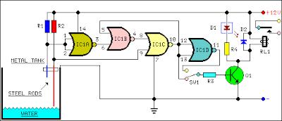 water pump relay controller circuit diagram. Black Bedroom Furniture Sets. Home Design Ideas