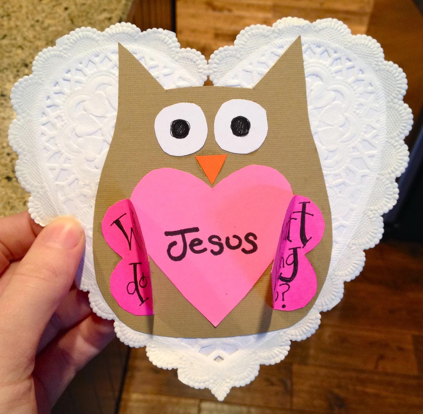 Sunday School Valentine Craft