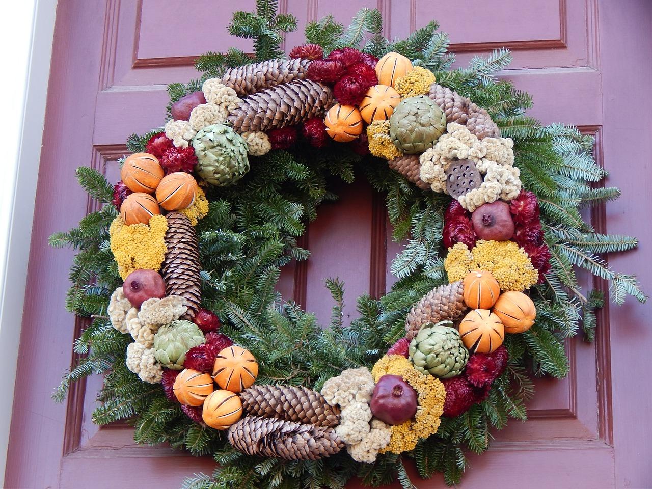 C mo hacer corona navide a tradicional con base de pino - Modelos de coronas ...