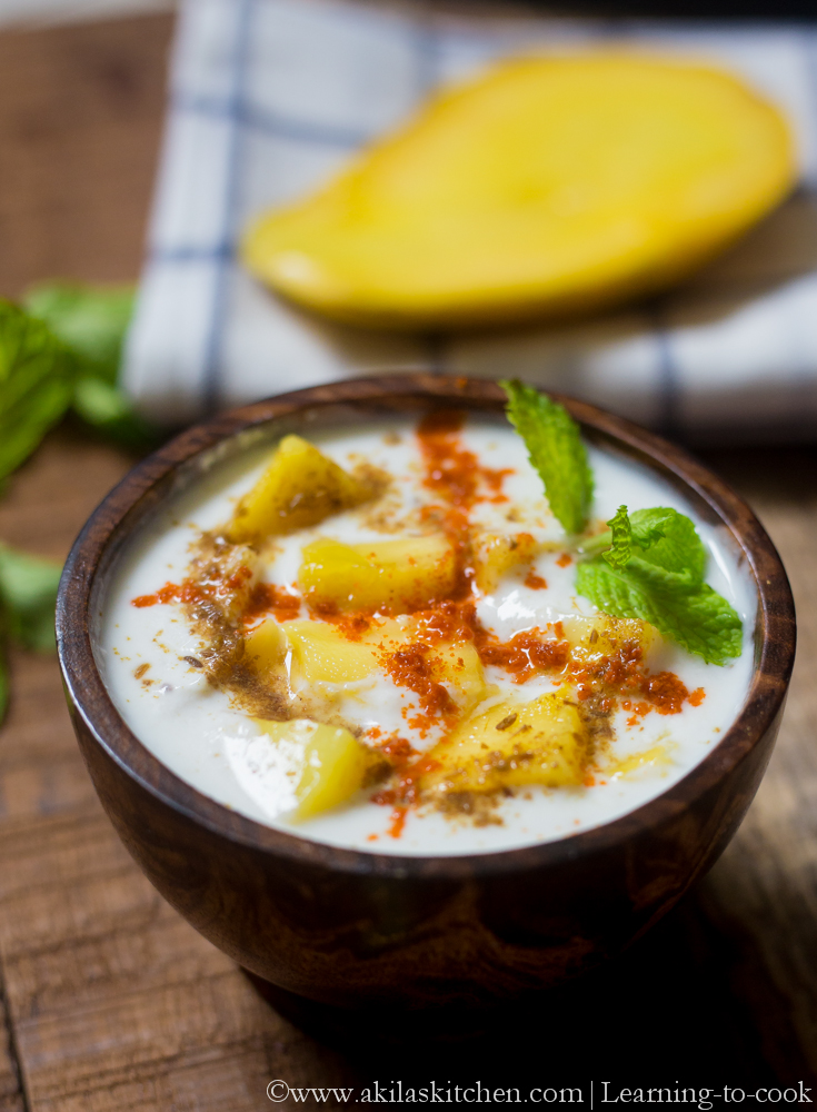 Learning-to-cook: Mango Raita | Aam ka Raita | Mango Recipes