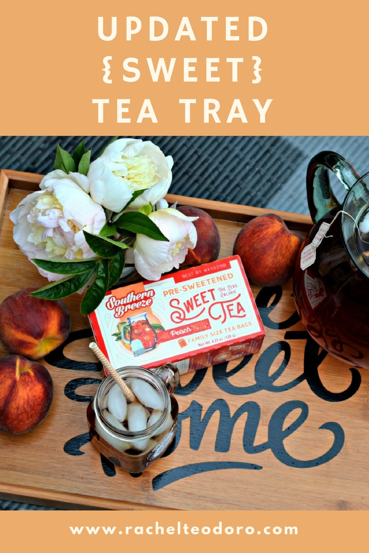 southern breeze, vinyl, silhouette, kitchen giveaway, kitchen makeover, peach tea, recipe