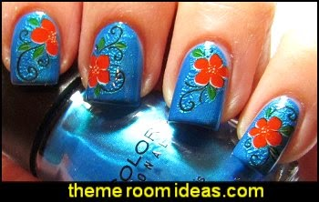 Nail Water Decal Stickers - flowers nail decal stickers - flower nail design ideas
