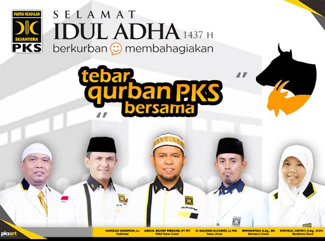 Tahun ini, PKS Kota Medan Salurkan 36 Sapi dan 69 Kambing di 21 Kecamatan