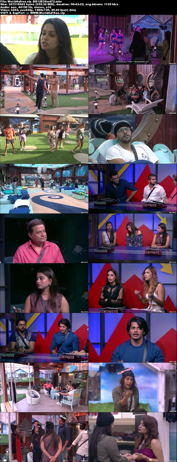 Bigg Boss 12 Episode 36 22 October 2018 720p WEBRip 350Mb x264 world4ufree.vip tv show Episode 36 22 October 2018 world4ufree.vip 300mb 250mb 300mb compressed small size free download or watch online at world4ufree.vip