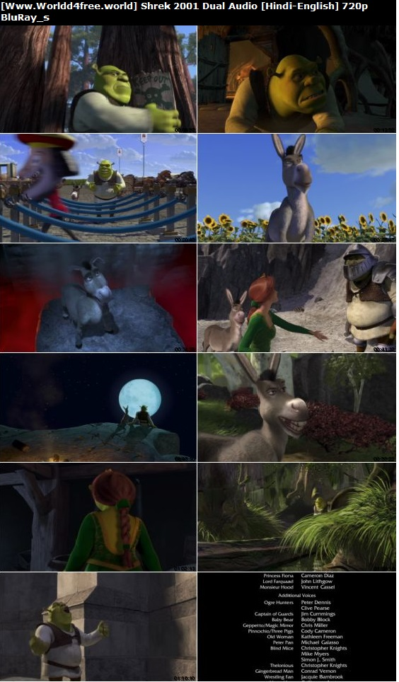 Screen Shoot of  Shrek 2001 Full Dual Audio Hindi English 720p BluRay