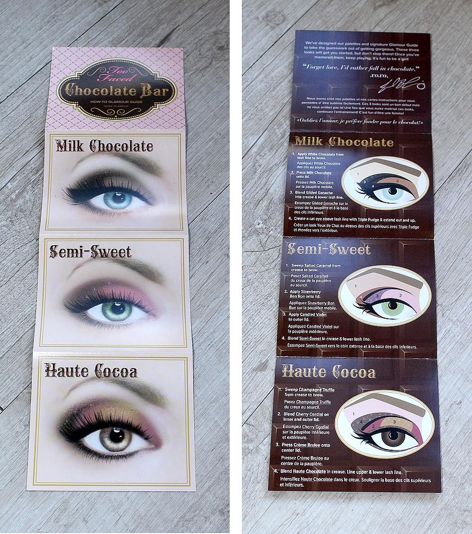 modèle maquillage ombres à paupières chocolate Bar