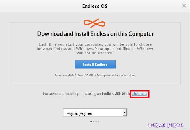 Instal OS Endless 1