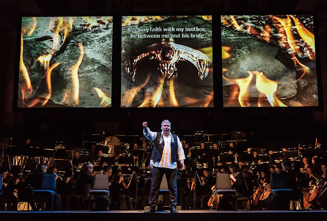 Opera North - Mati Turi as Siegfried in Gotterdammerung Photo credit: Clive Barda