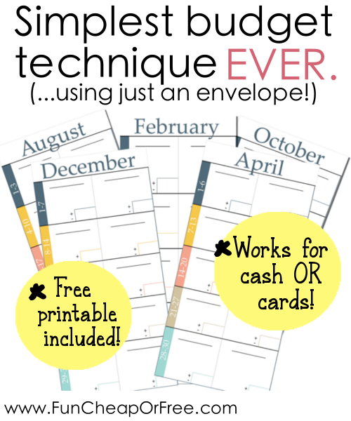 Simplest Budgeting Technique Ever Includes Free Printables Fun