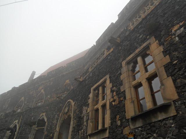 mury, zamek, na wulkanie, Sudety