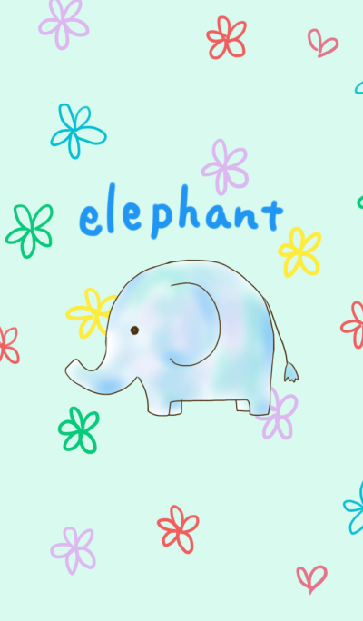 Animal watercolor ~elephant~