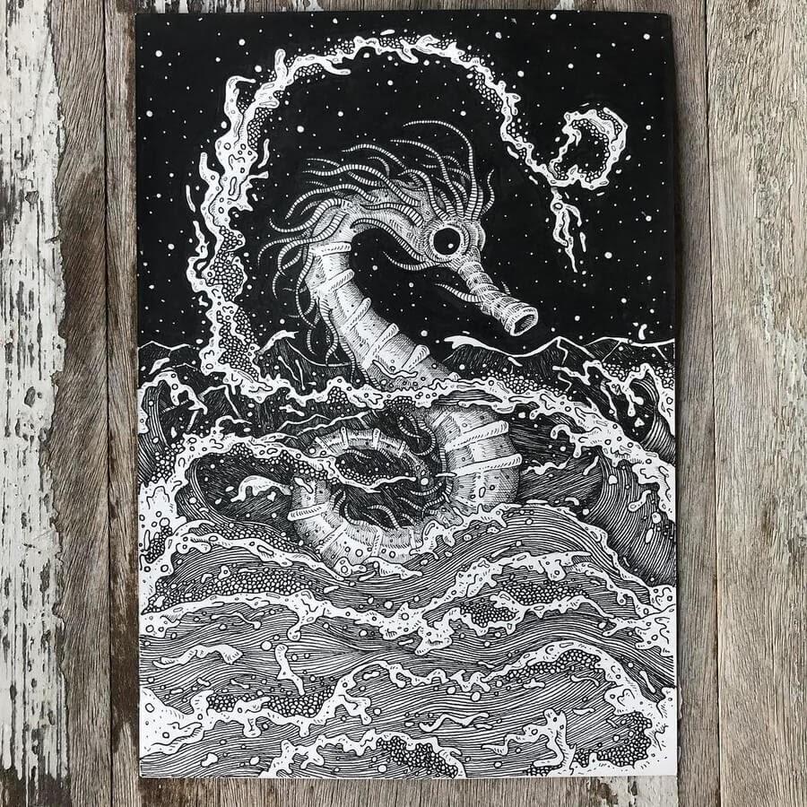 09-Seahorse-Ezequiel-Abramzon-Surrealism-www-designstack-co