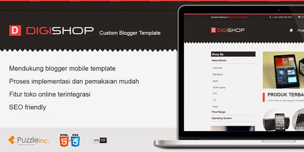 Digishop Blogger Template