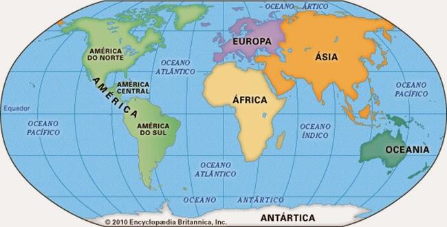 mapa dos continentes O novo continente mapa dos continentes