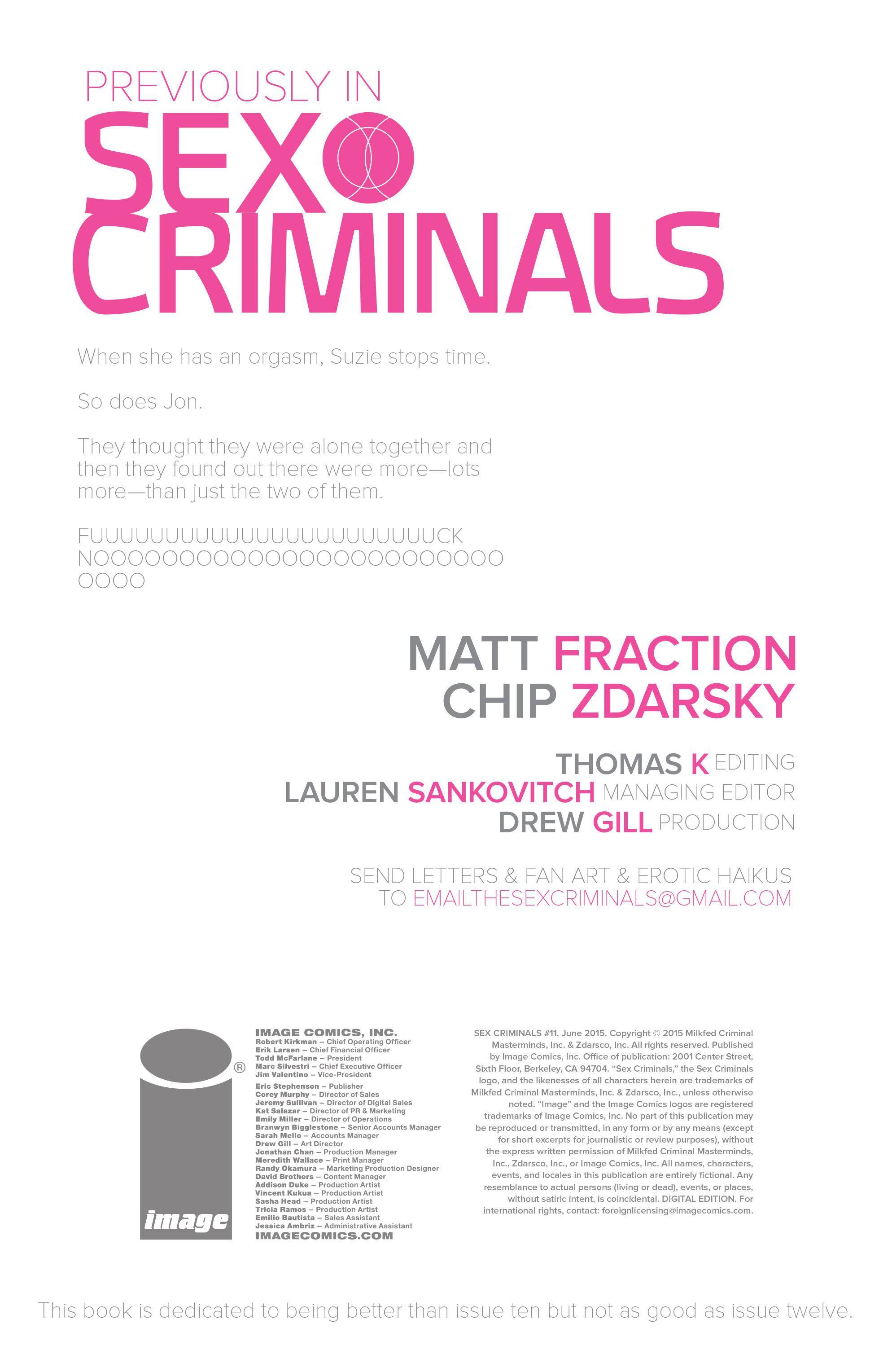 Read online Sex Criminals comic -  Issue #11 - 2
