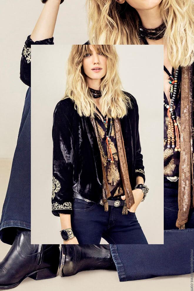 Sacos de terciopelo invierno 2017 moda mujer. Moda 2017 mujer.
