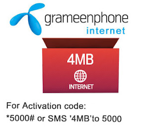 Grameenphone Internet -4MB offer-2Taka