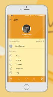Tema BBM MOD Mi Gold Beta v300.3.7.101 Apk Mod2