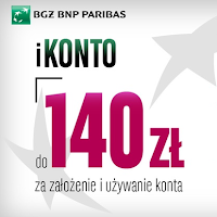 iKonto z premią promocja BGŻ BNP Paribas 140 zł na Grouponie